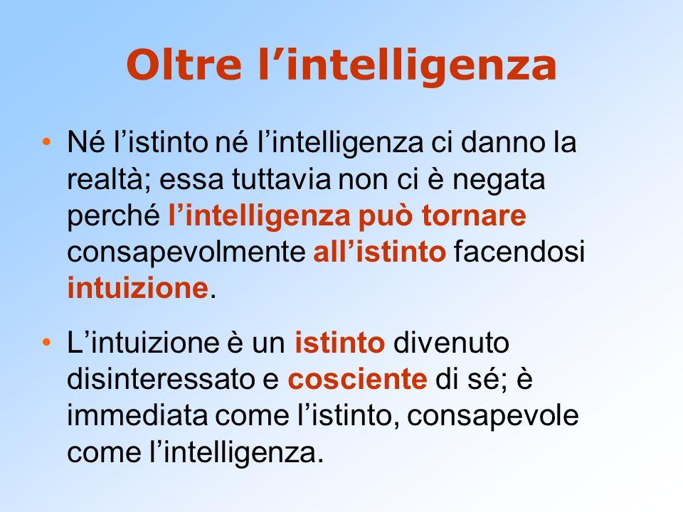 Oltre l'intelligenza