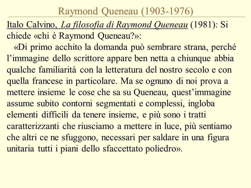 Raymond Queneau (1903-1976)