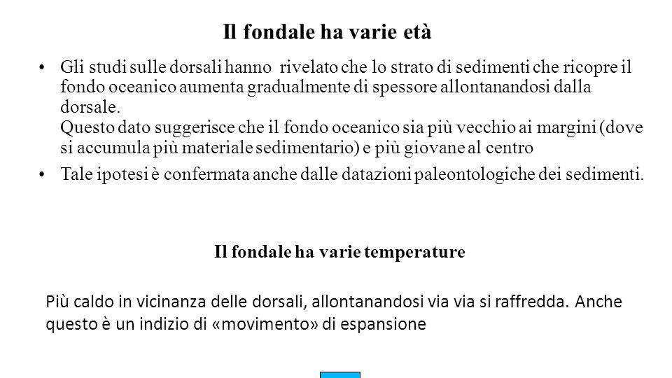 Il fondale ha varie temperature