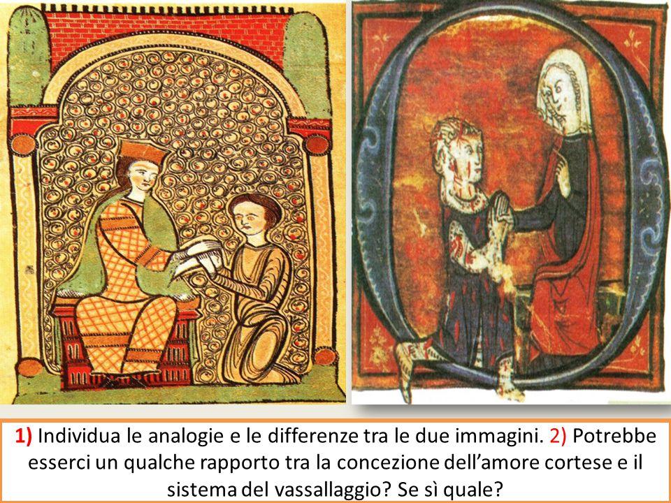 Scena di omaggio feudale/scena di omaggio del cavaliere alla signora/ dama.