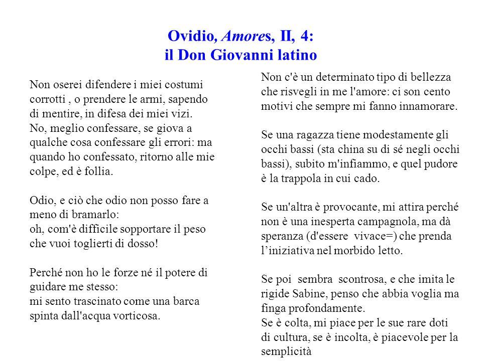 Ovidio, Amores, II, 4: il Don Giovanni latino