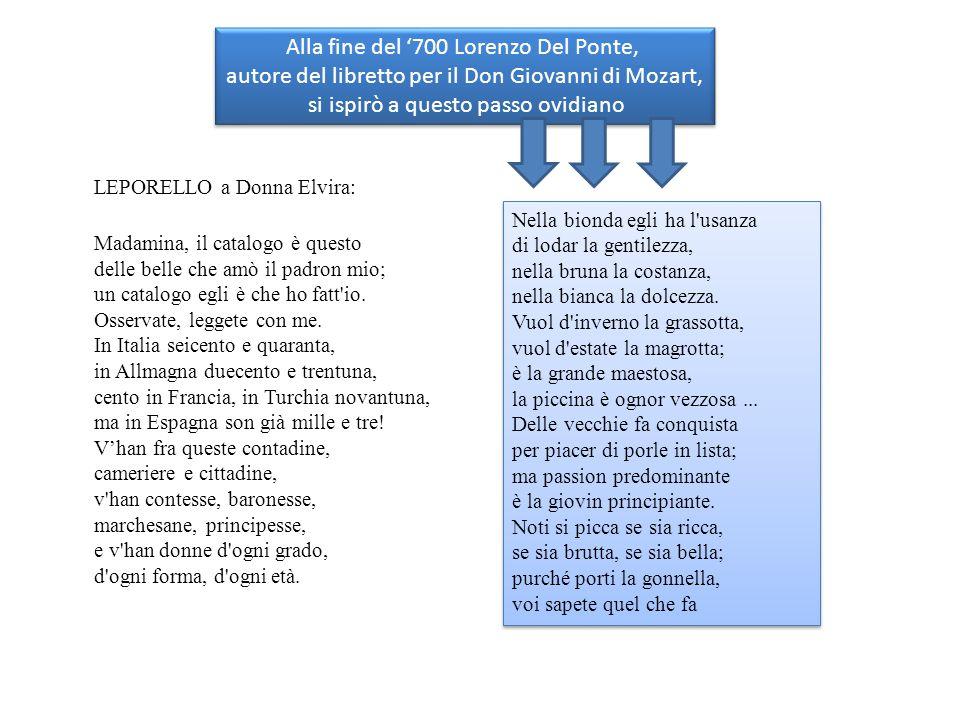 Alla fine del '700 Lorenzo Del Ponte,