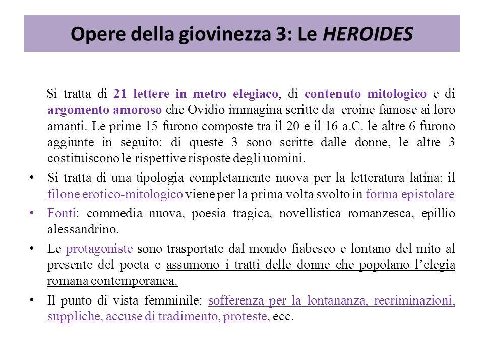 Opere della giovinezza 3: Le HEROIDES