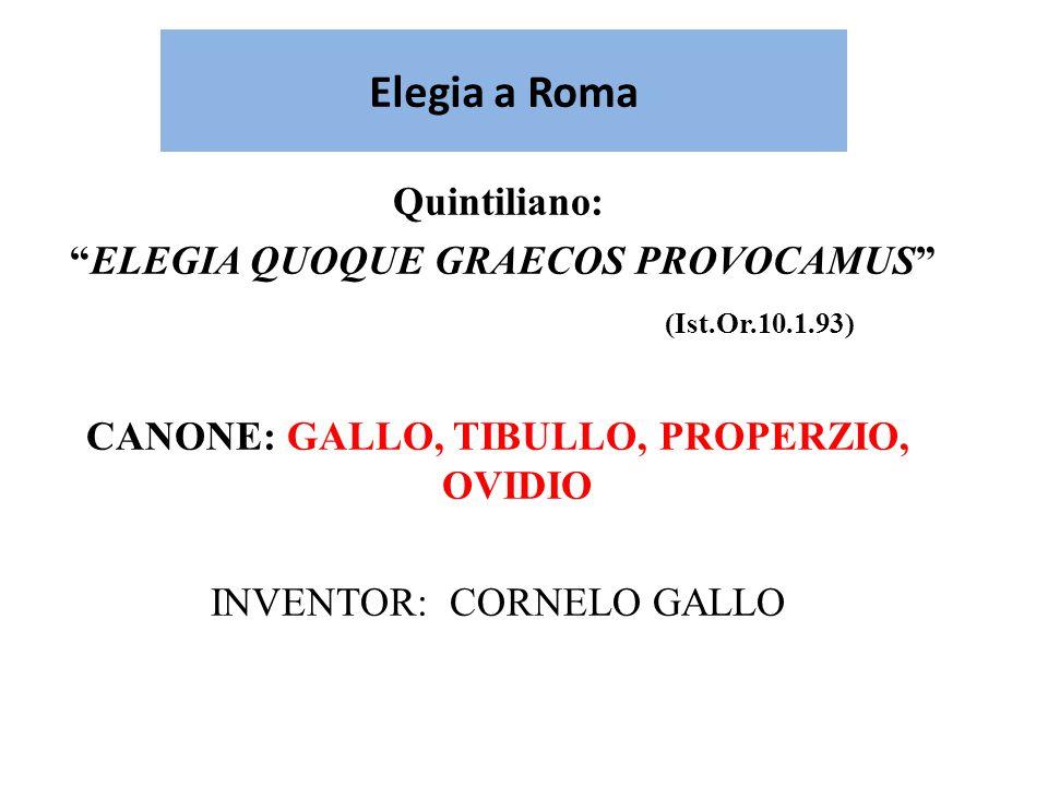 Elegia a Roma Quintiliano: ELEGIA QUOQUE GRAECOS PROVOCAMUS