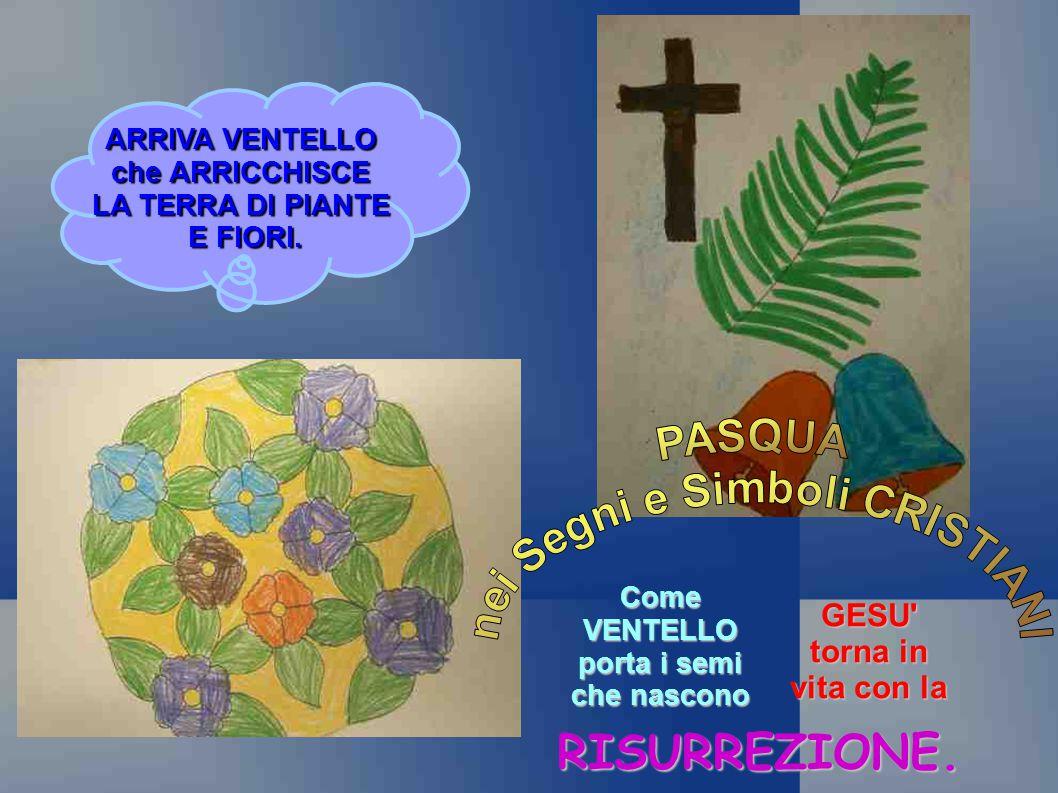 nei Segni e Simboli CRISTIANI Come VENTELLO porta i semi che nascono