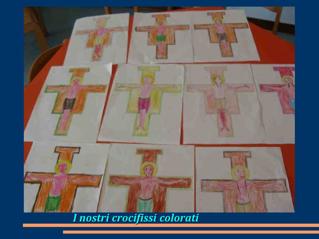 I nostri crocifissi colorati