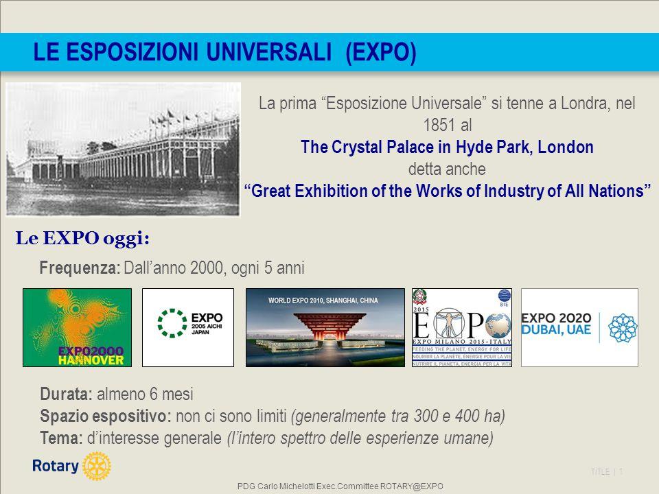 Le Esposizioni Universali (EXPO)
