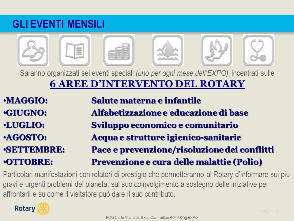6 AREE D'INTERVENTO DEL ROTARY