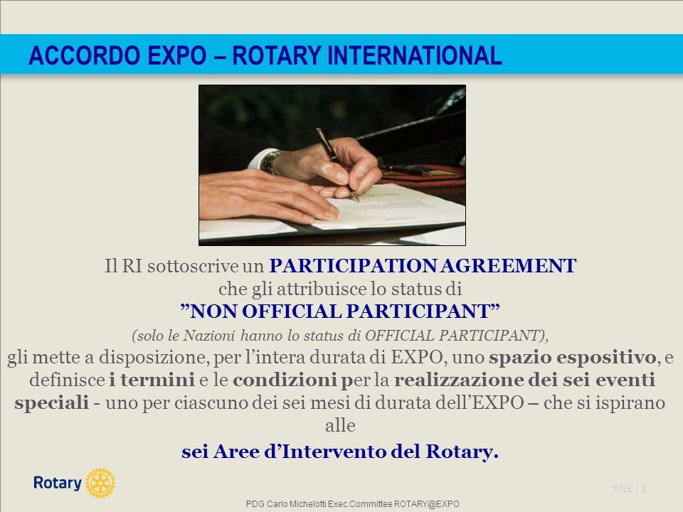 ACCORDO EXPO – ROTARY INTERNATIONAL