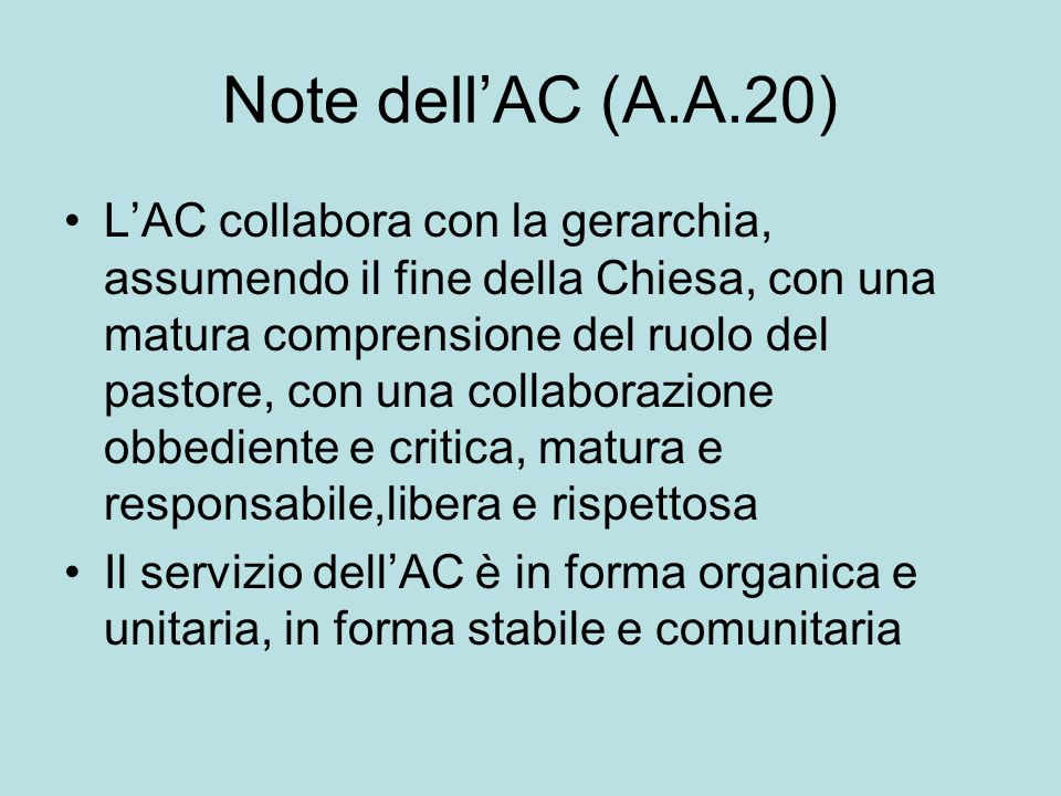 Note dell'AC (A.A.20)