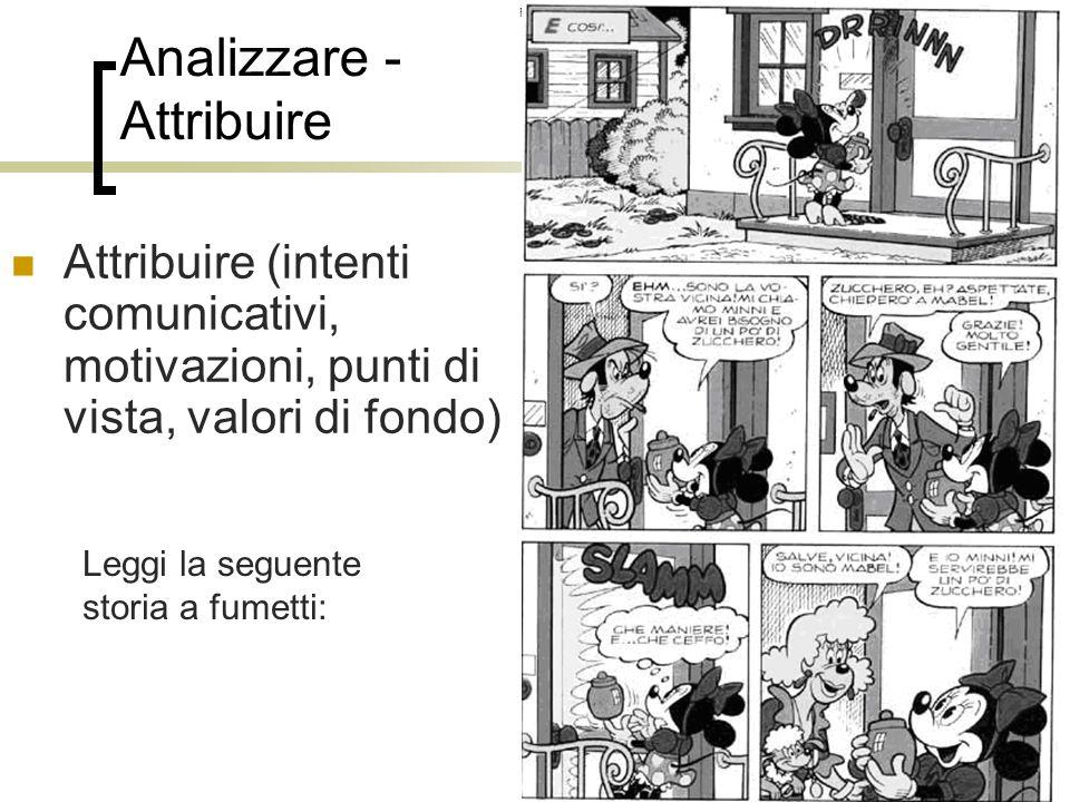 Analizzare - Attribuire