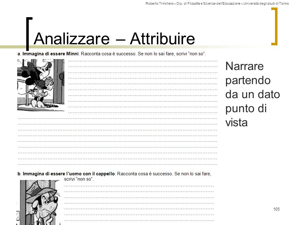 Analizzare – Attribuire