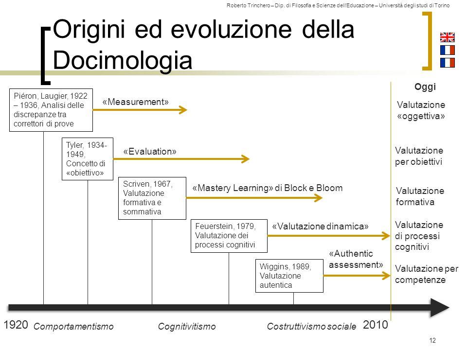 Origini ed evoluzione della Docimologia