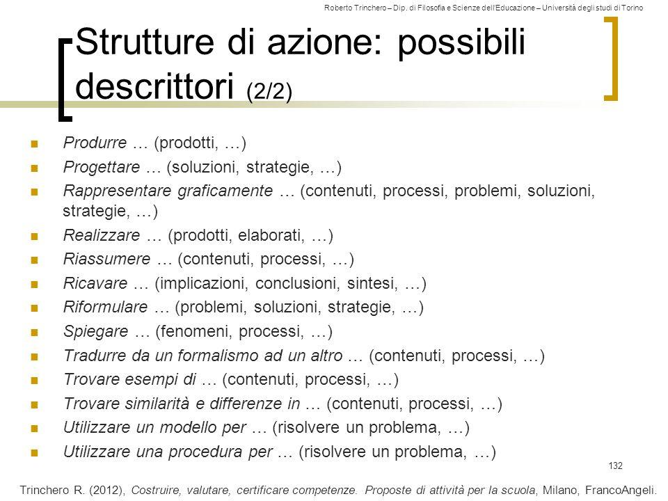 Strutture di azione: possibili descrittori (2/2)
