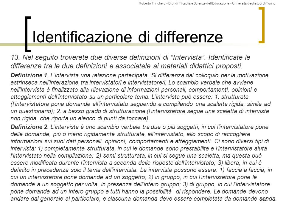 Identificazione di differenze