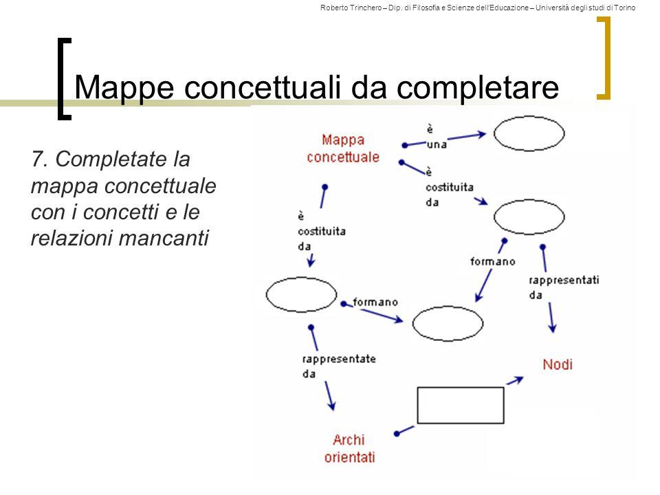 Mappe concettuali da completare