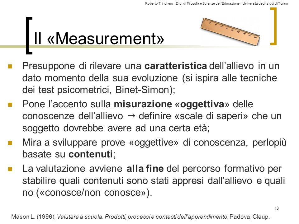 Il «Measurement»
