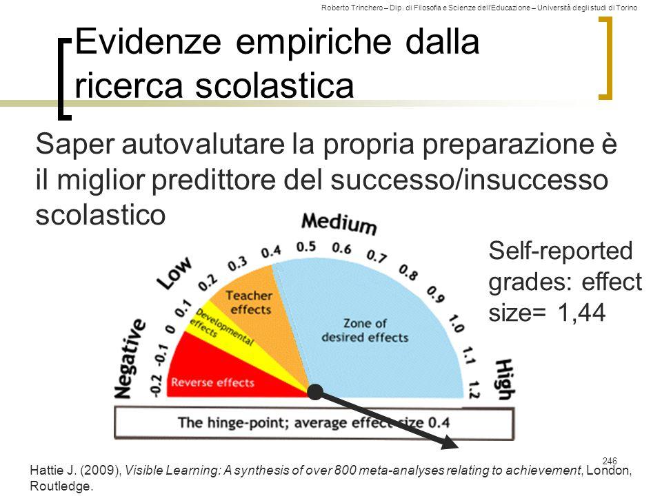 Evidenze empiriche dalla ricerca scolastica