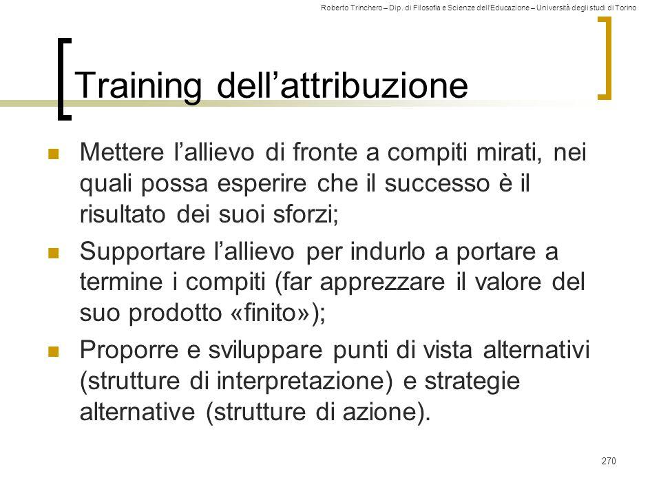 Training dell'attribuzione