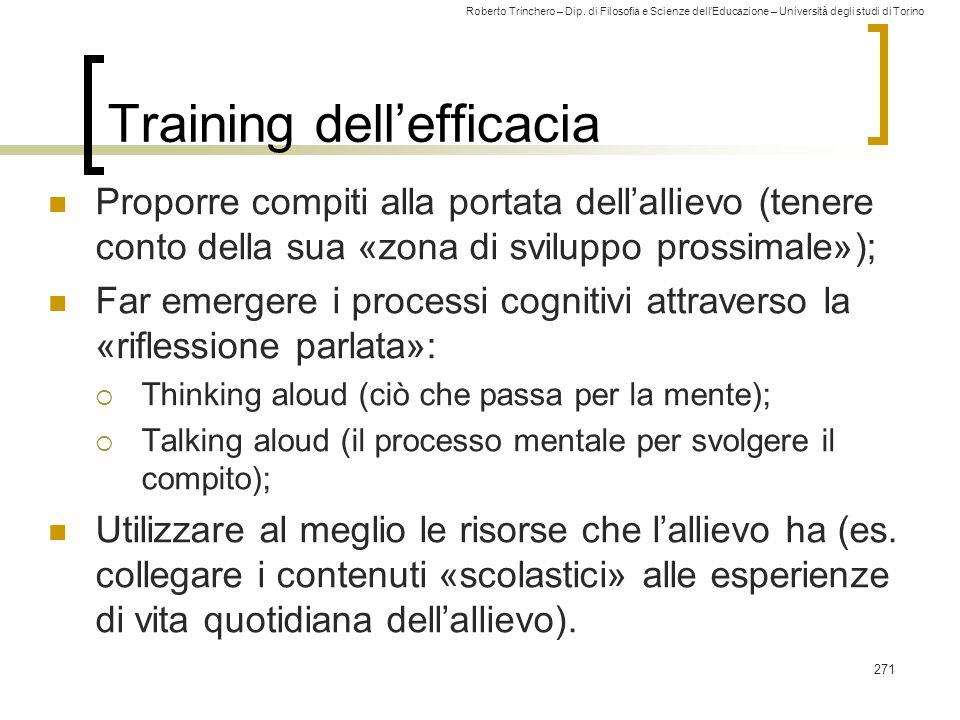 Training dell'efficacia