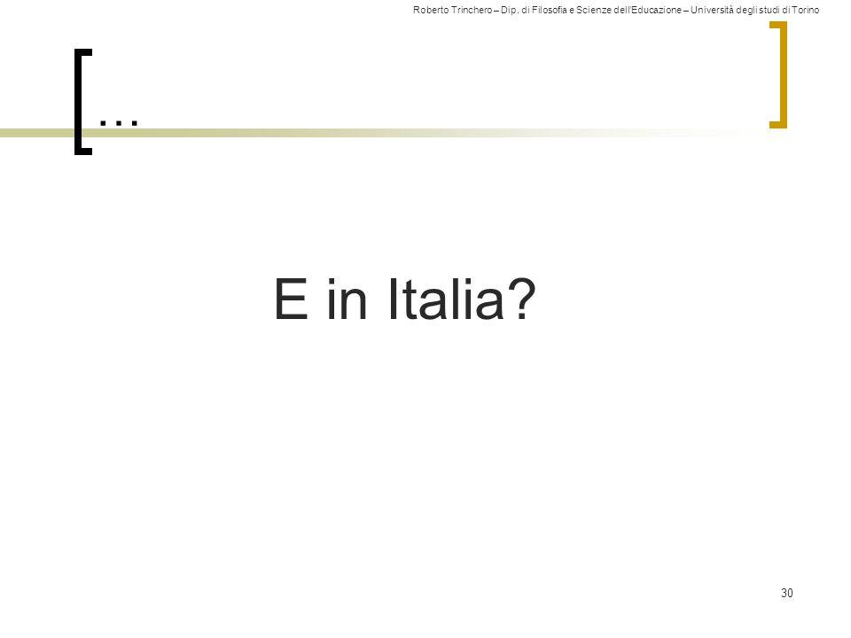 … E in Italia