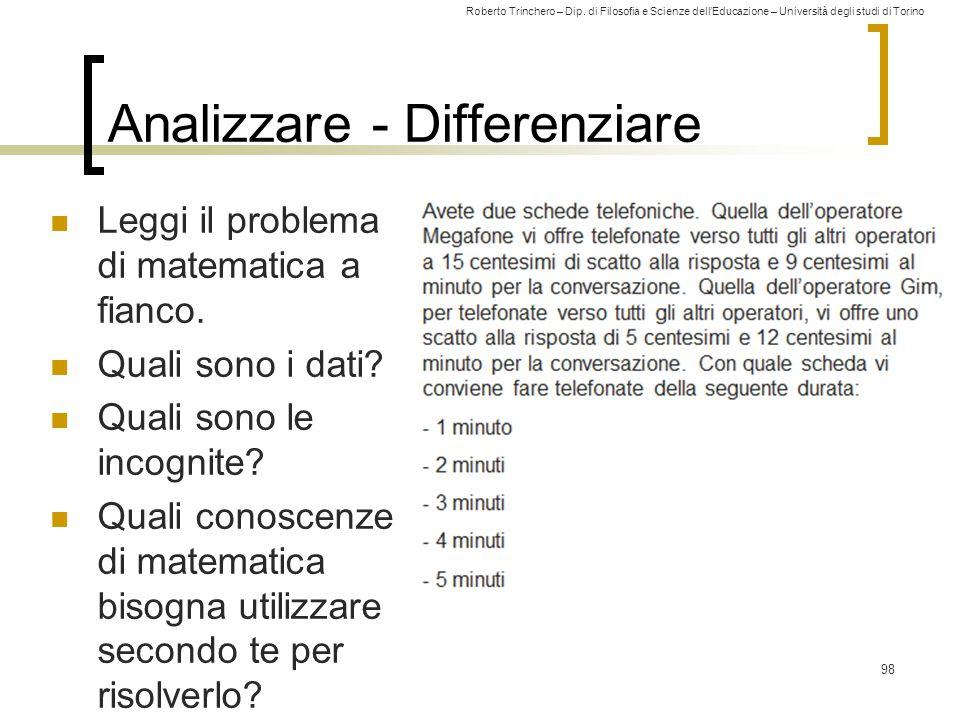 Analizzare - Differenziare