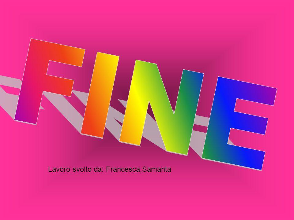 FINE Lavoro svolto da: Francesca,Samanta