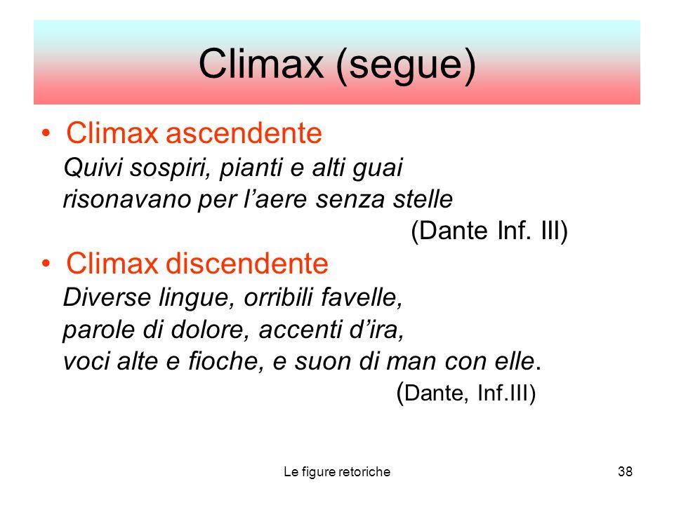 Climax (segue) Climax ascendente Climax discendente