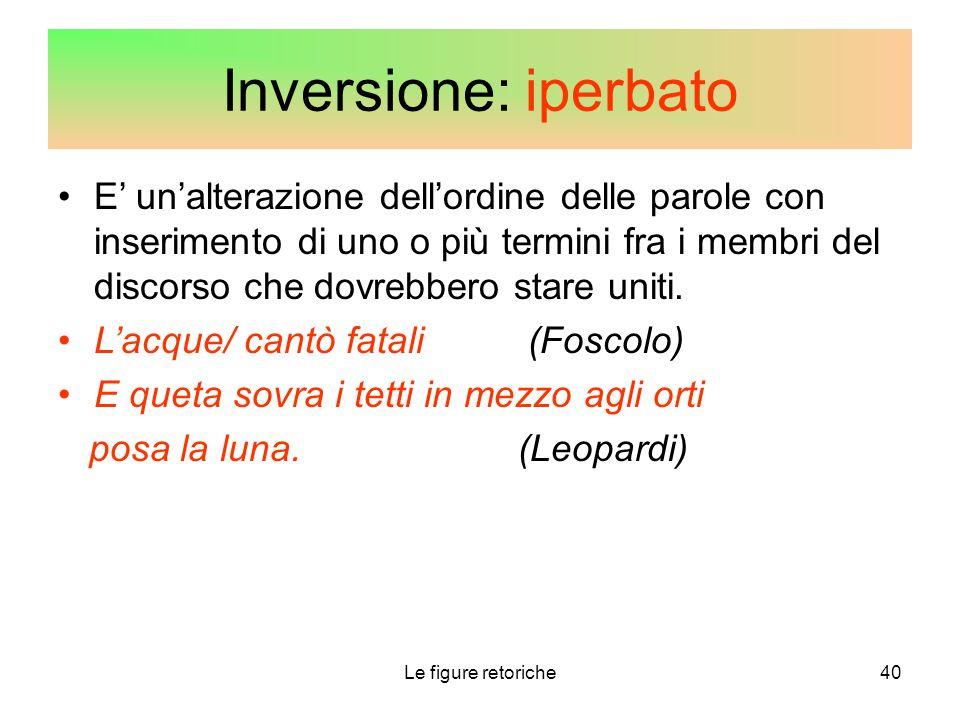 Inversione: iperbato