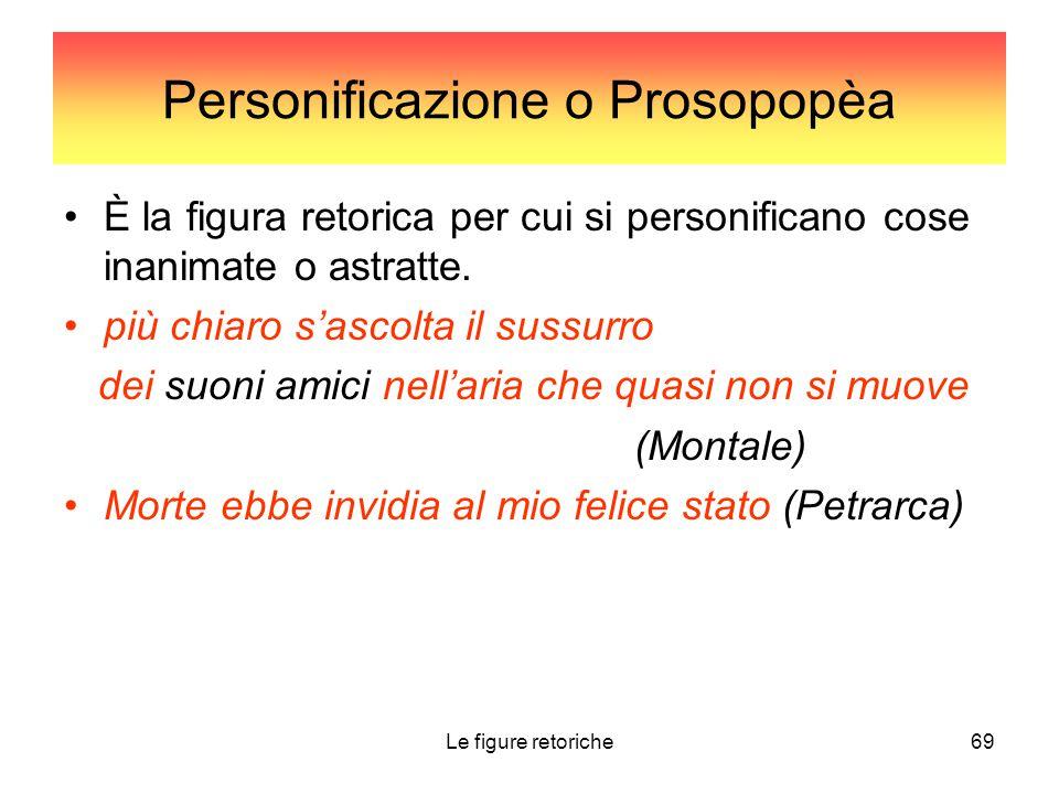 Personificazione o Prosopopèa