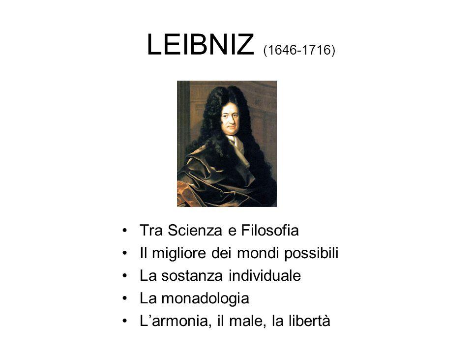 LEIBNIZ (1646-1716) Tra Scienza e Filosofia