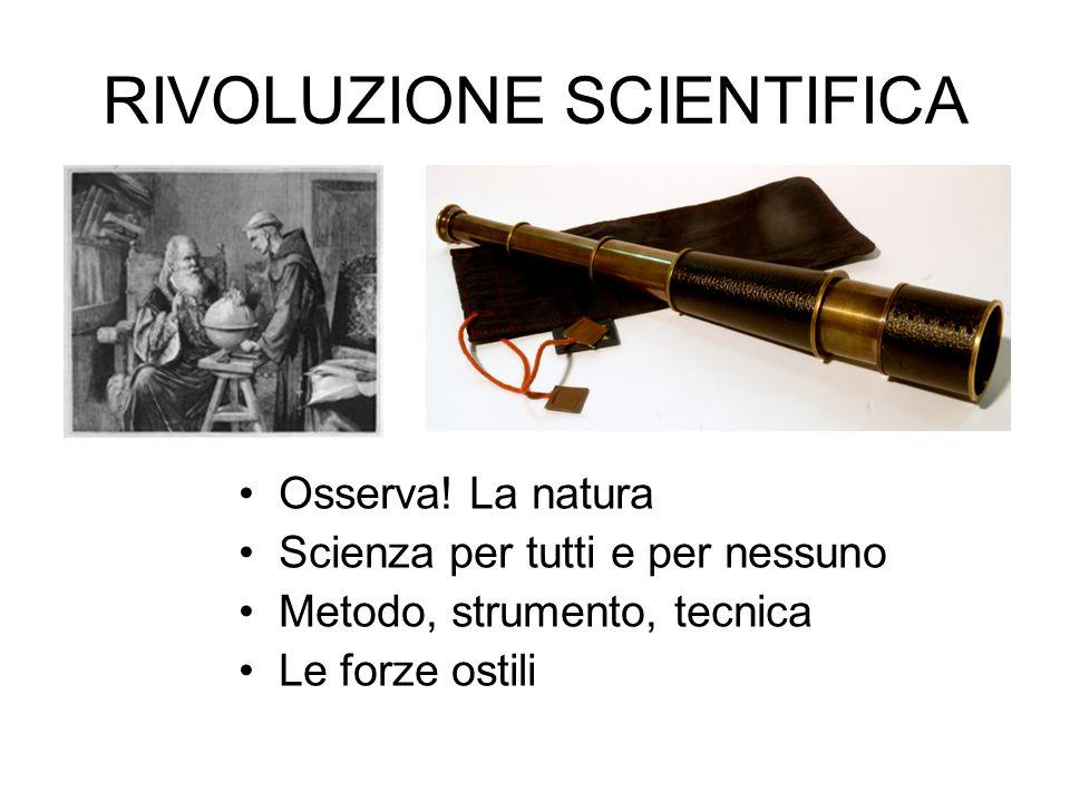 RIVOLUZIONE SCIENTIFICA