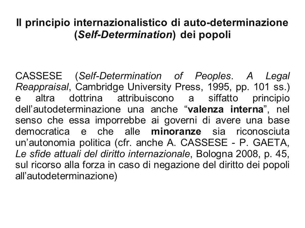 CASSESE (Self-Determination of Peoples