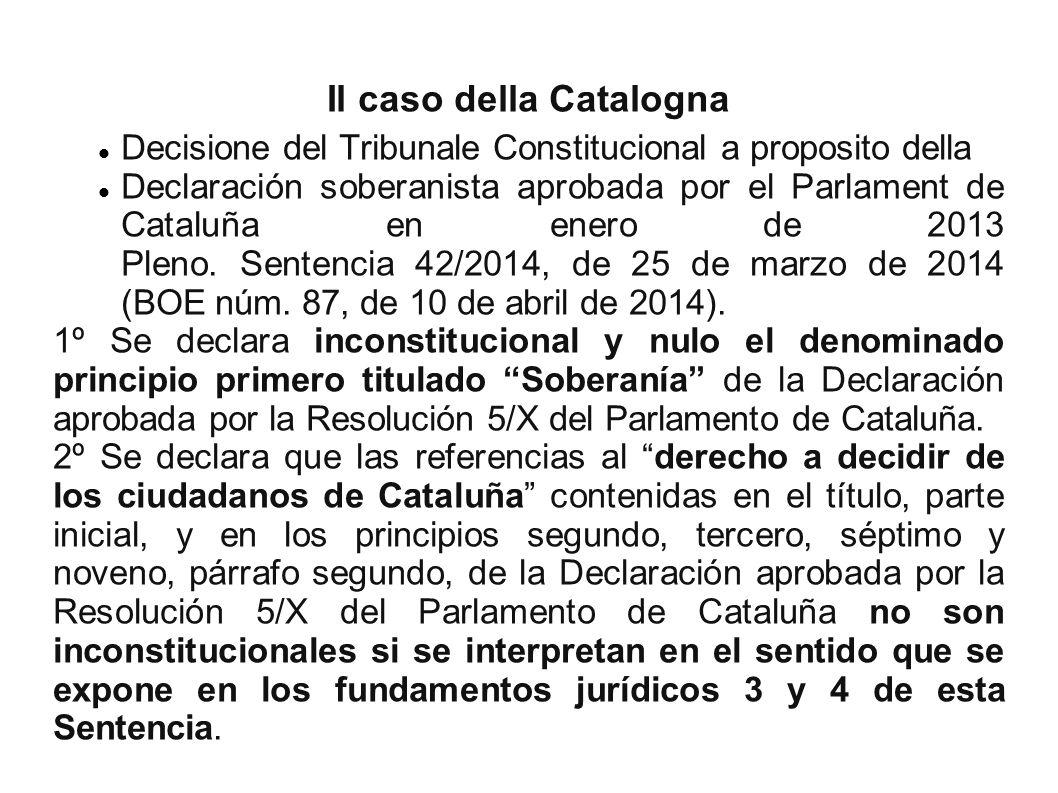 Il caso della Catalogna
