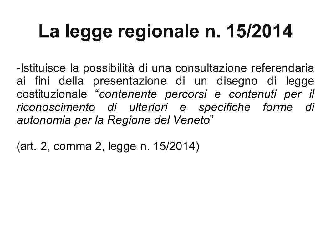 La legge regionale n. 15/2014