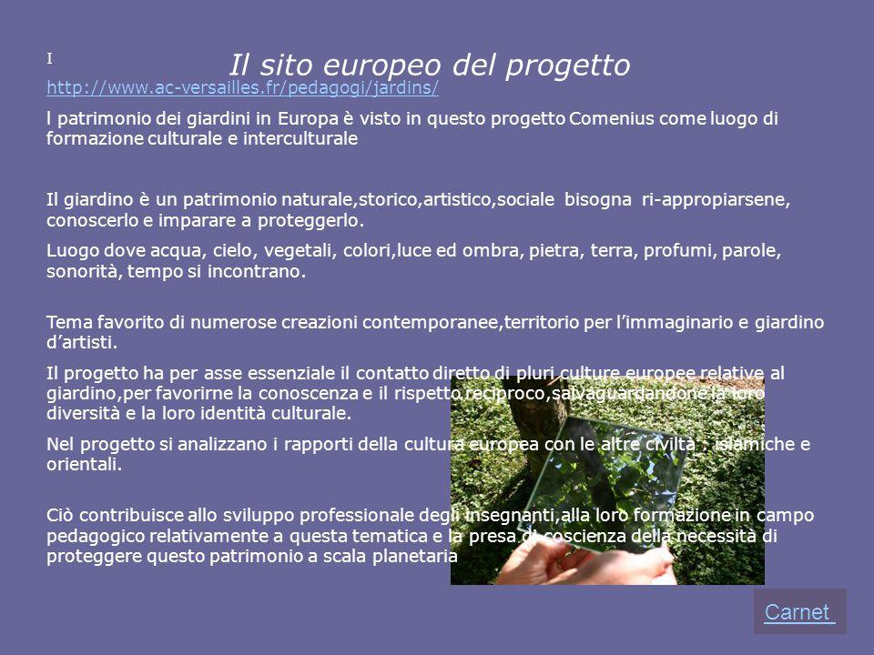 Il sito europeo del progetto