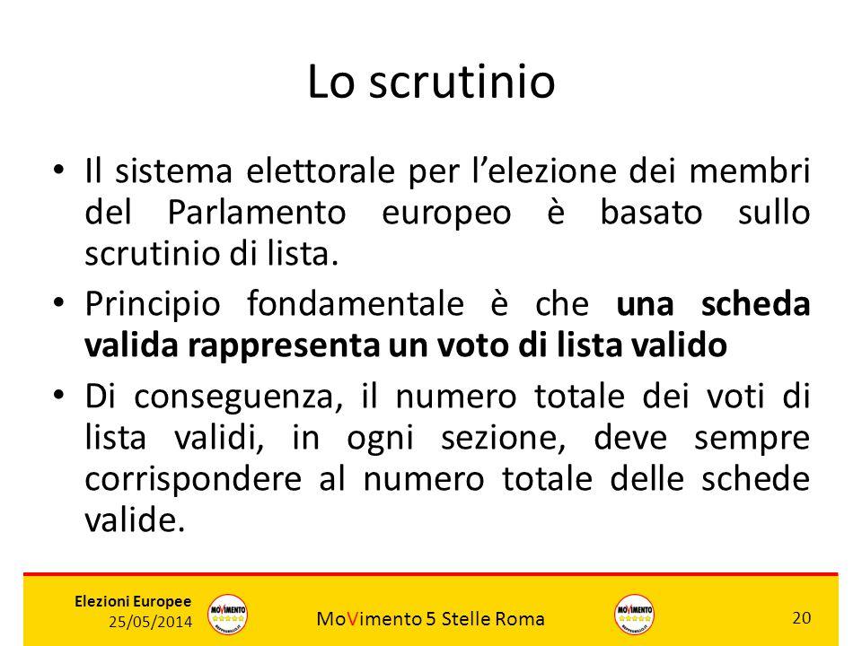 Lo scrutinio Il sistema elettorale per l'elezione dei membri del Parlamento europeo è basato sullo scrutinio di lista.