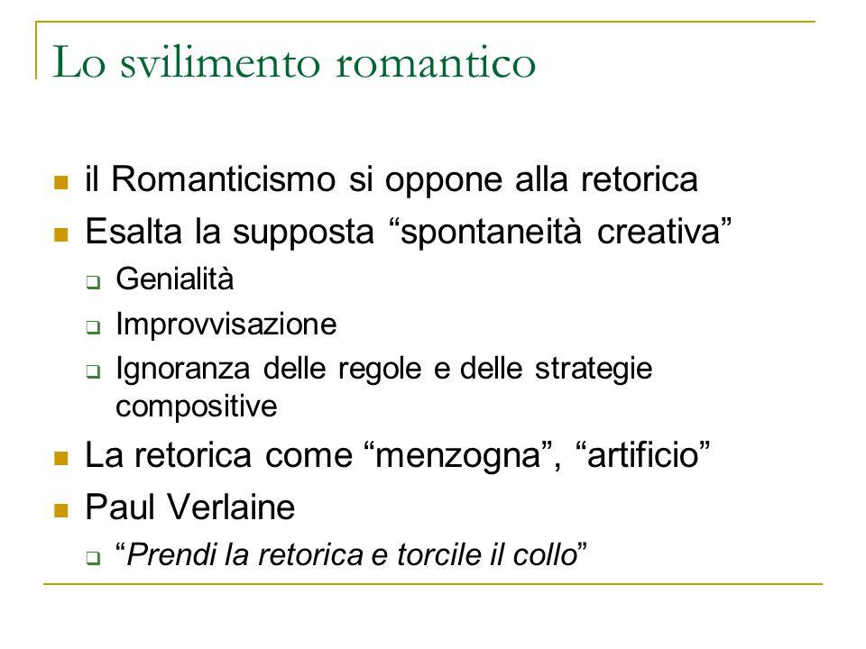 Lo svilimento romantico