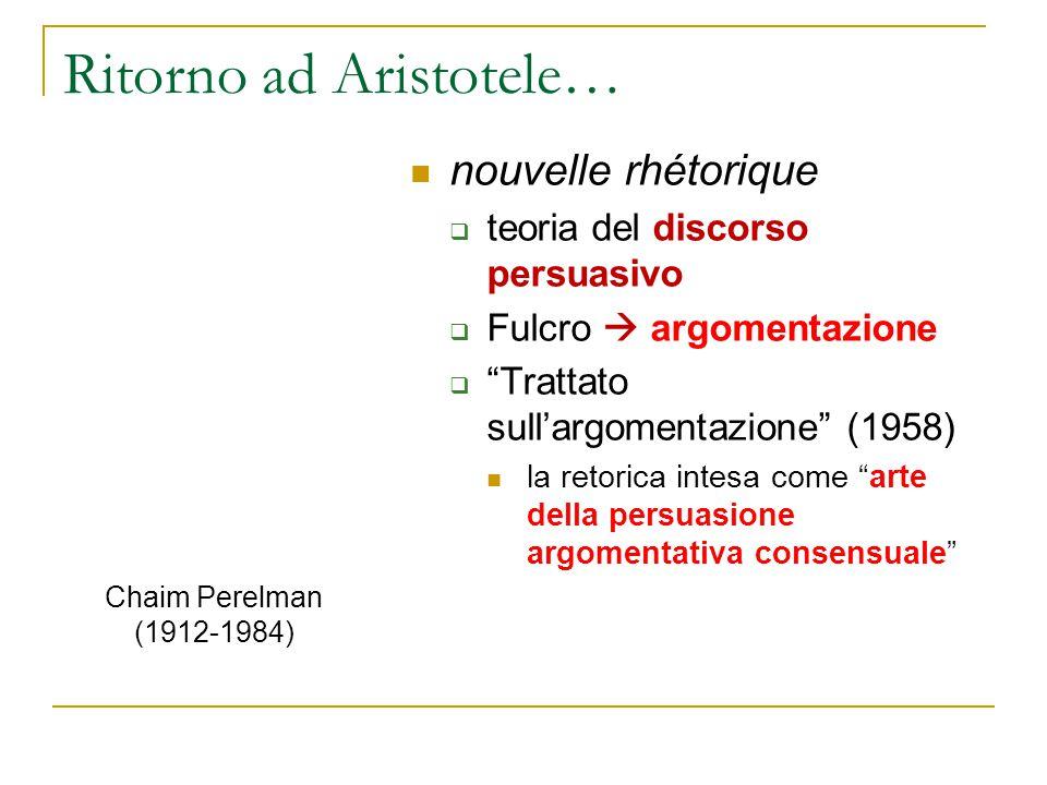 Ritorno ad Aristotele…