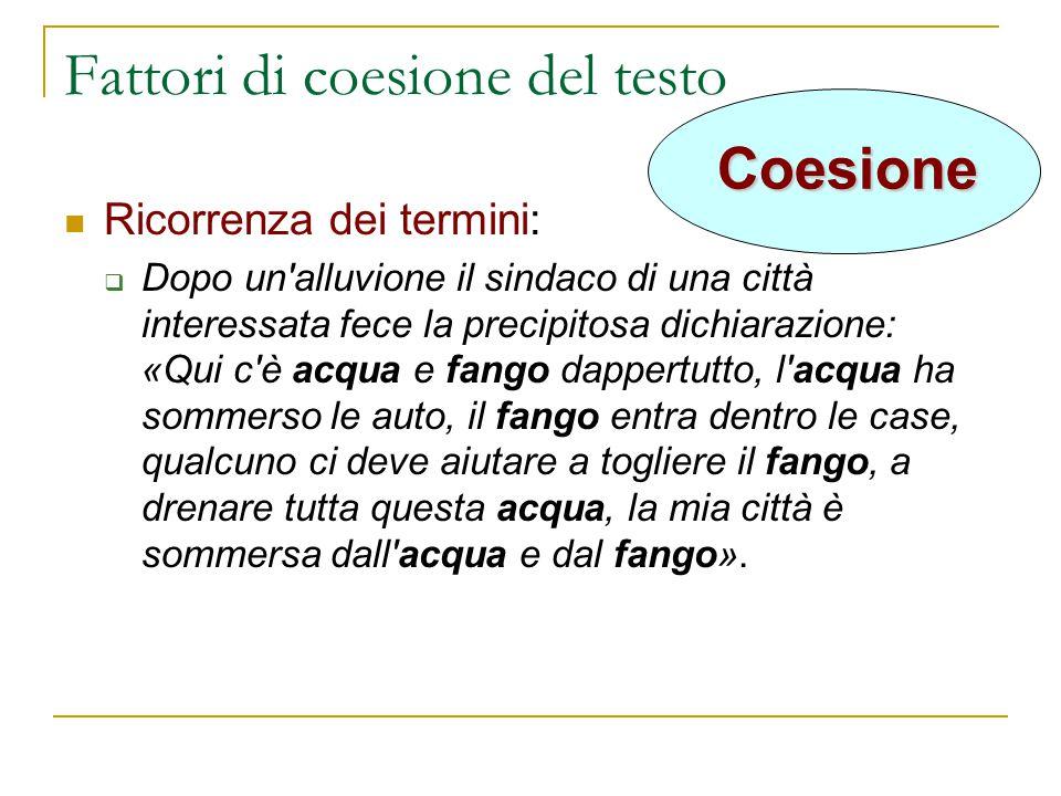 Fattori di coesione del testo