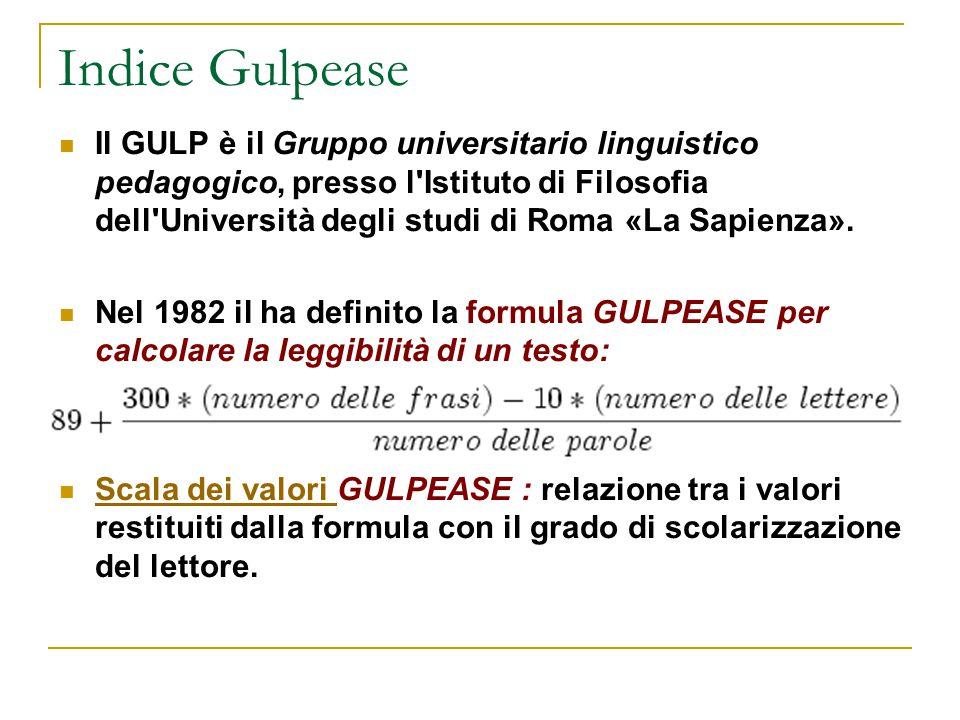 Indice Gulpease