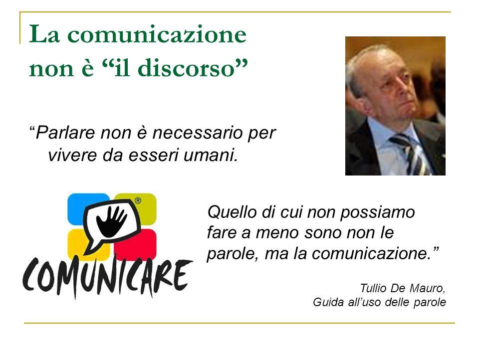 La comunicazione non è il discorso
