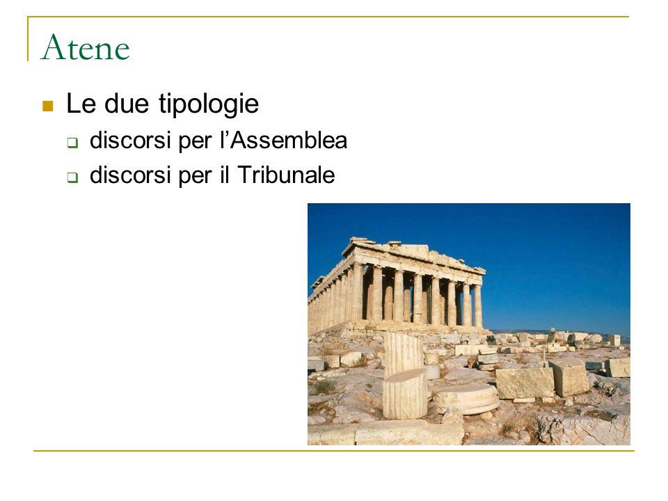 Atene Le due tipologie discorsi per l'Assemblea
