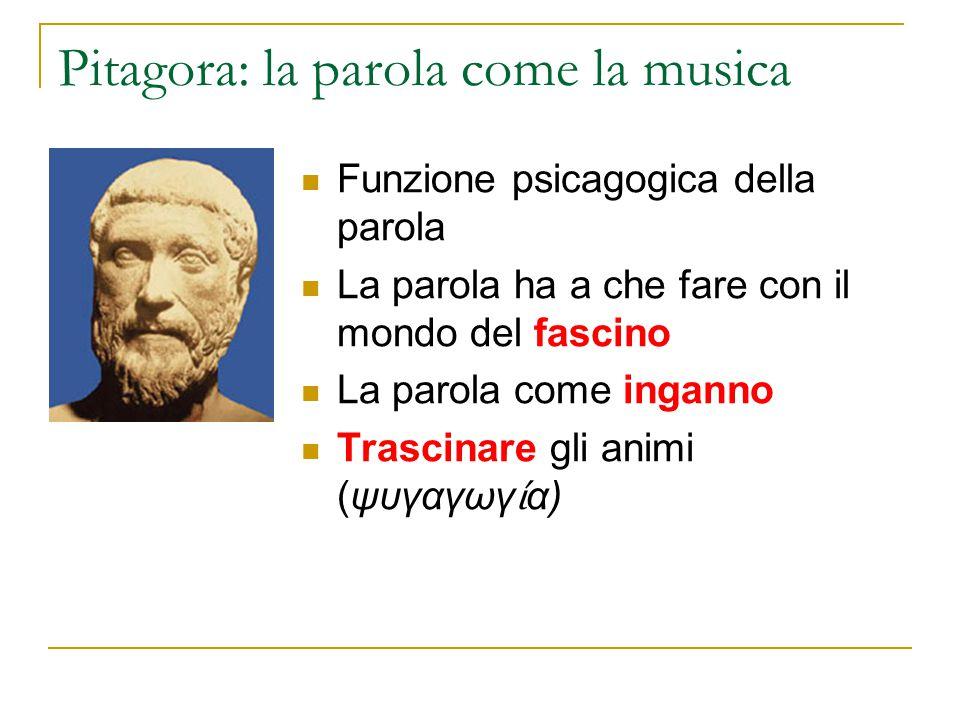 Pitagora: la parola come la musica