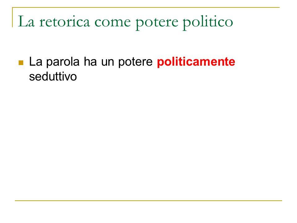 La retorica come potere politico