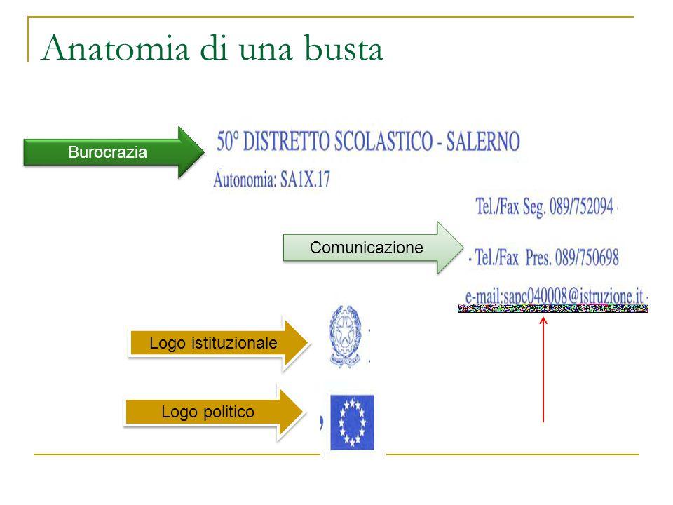 Anatomia di una busta Burocrazia Comunicazione Logo istituzionale