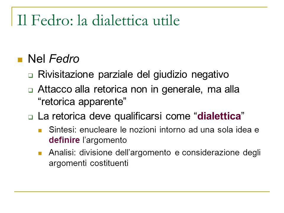 Il Fedro: la dialettica utile