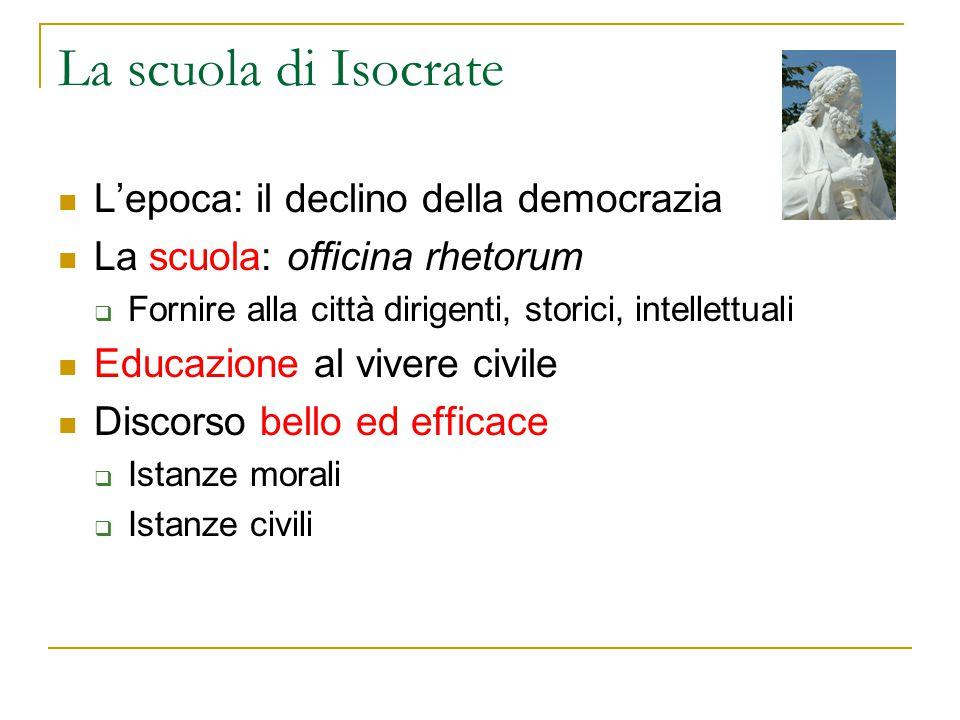 La scuola di Isocrate L'epoca: il declino della democrazia