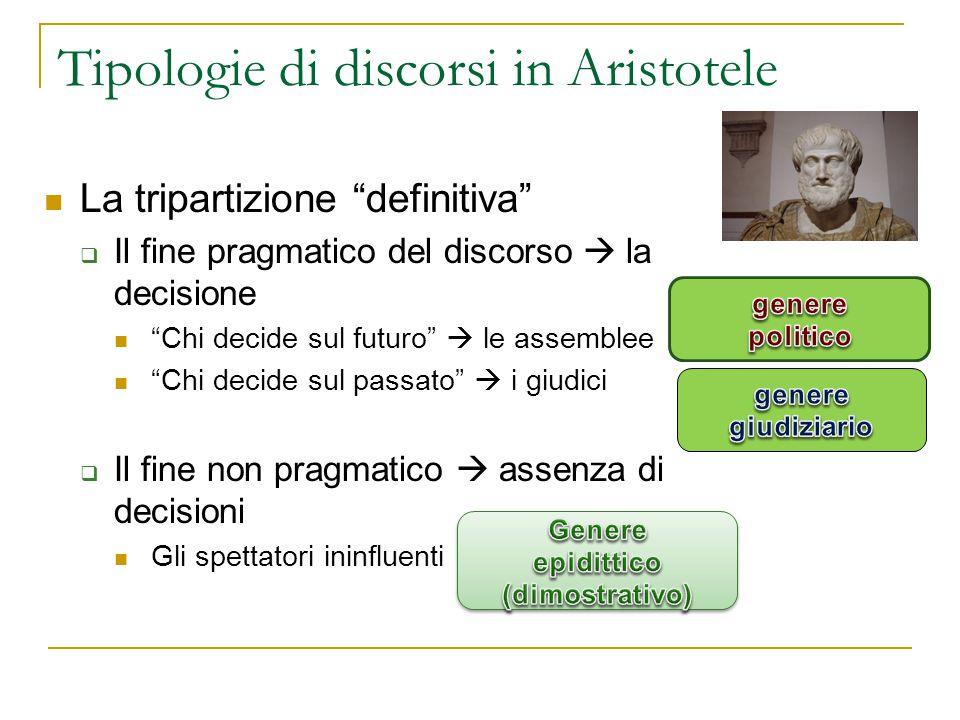 Tipologie di discorsi in Aristotele