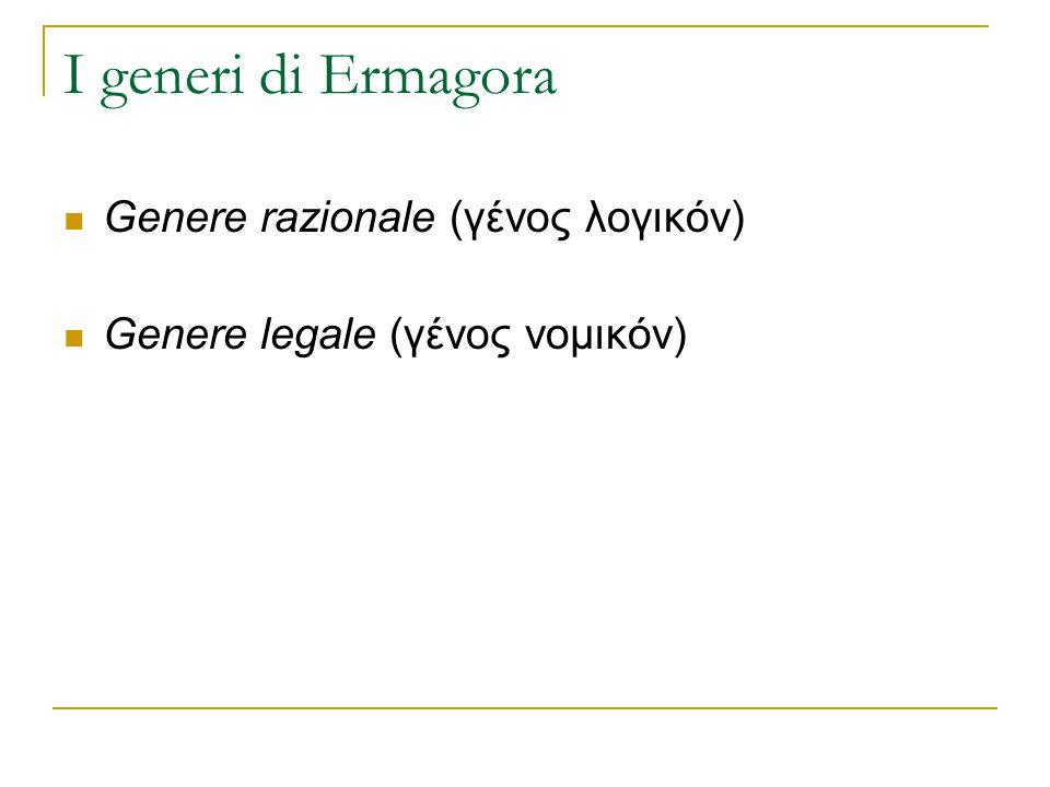 I generi di Ermagora Genere razionale (γένος λογικόν)